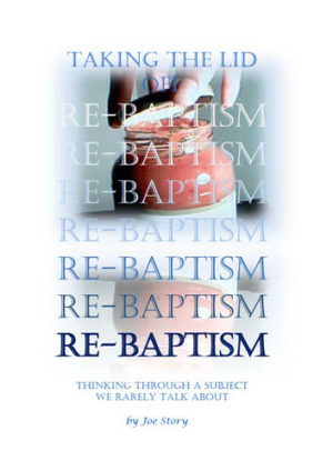 Taking the lid off re-baptism book cover