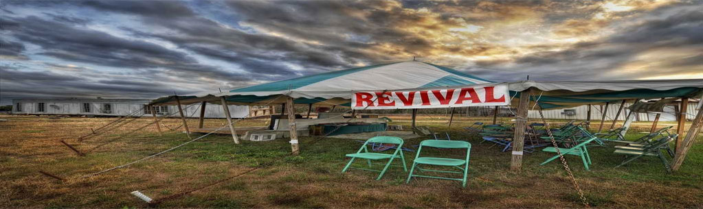 Revival tent stretched